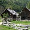 alte Kärntner Landhäuser auf der Bodenalm