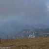 Wenn der Nebel lichtet, kann man erahnen welch herrlichen Ausblick man vom Schneeberg haben kann. Hier Richtung Gahns und Bodenwiese.